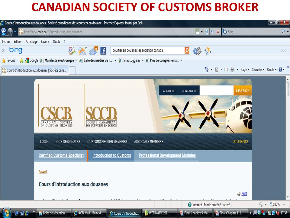 CANADIAN SOCIETY OF CUSTOMS BROKER