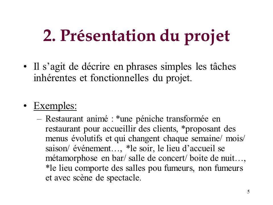 2. Présentation du projet