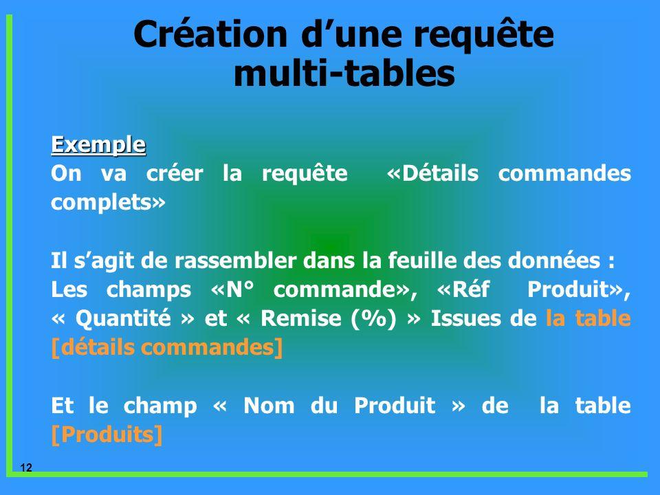 Création d'une requête multi-tables