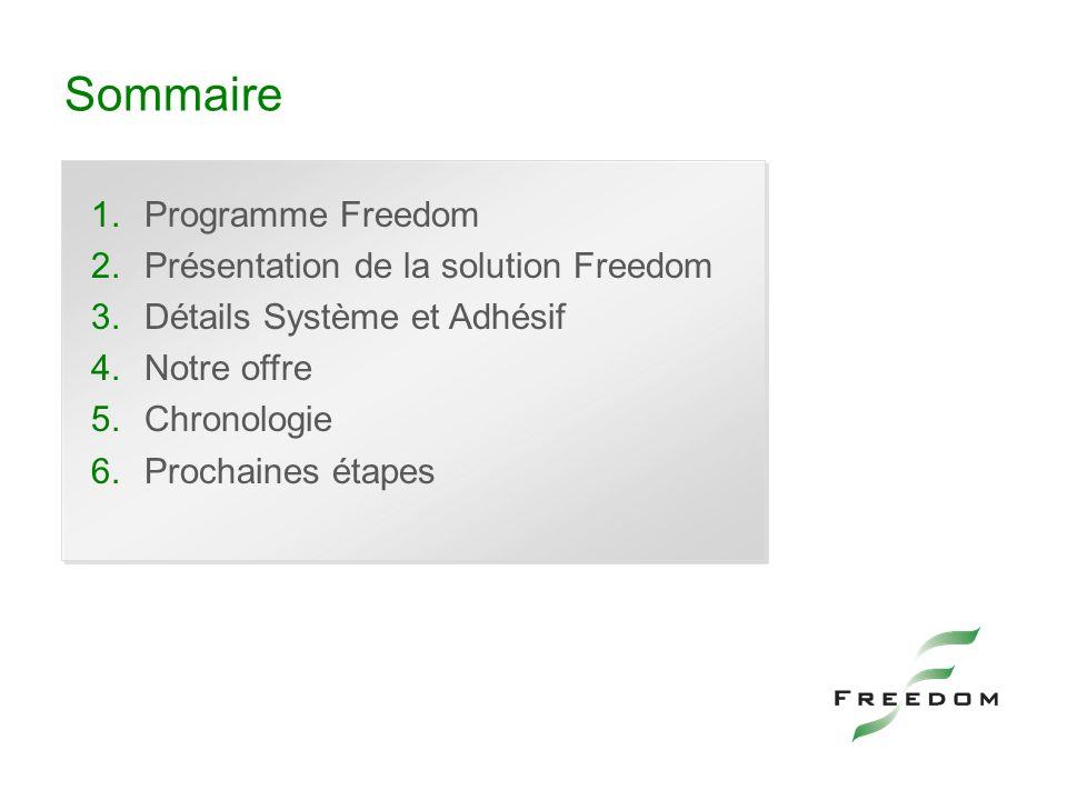 Sommaire Programme Freedom Présentation de la solution Freedom