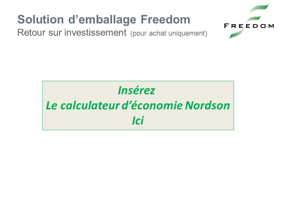 Le calculateur d'économie Nordson
