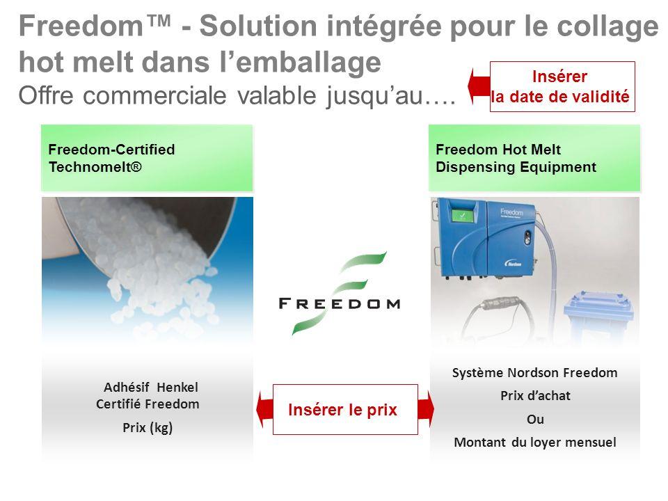 Freedom™ - Solution intégrée pour le collage hot melt dans l'emballage Offre commerciale valable jusqu'au….