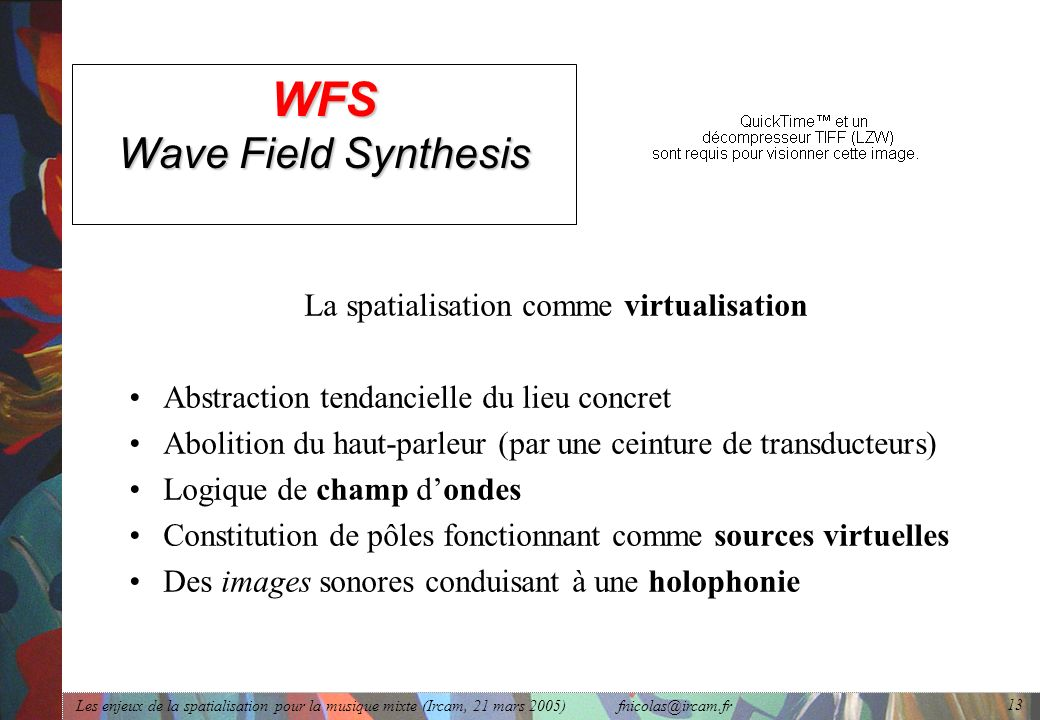 WFS Wave Field Synthesis