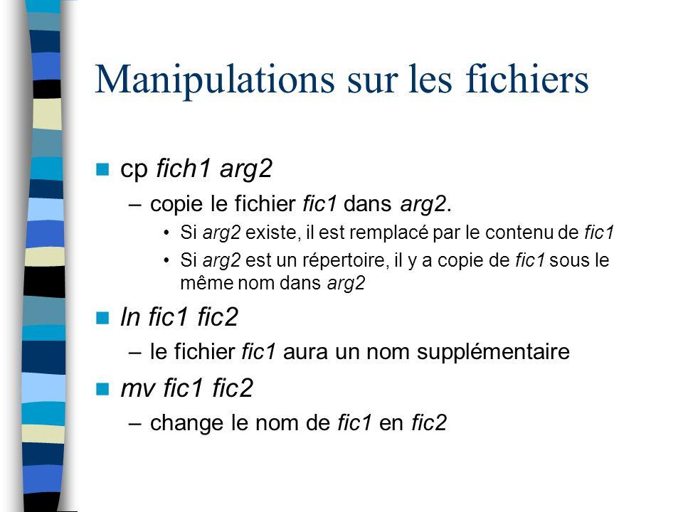 Manipulations sur les fichiers