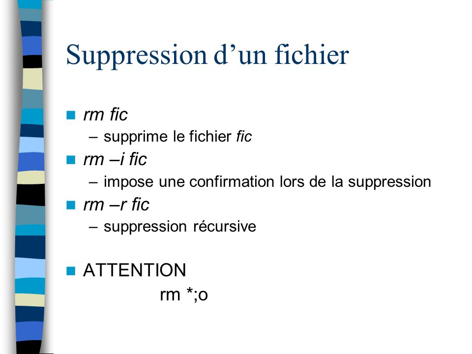 Suppression d'un fichier