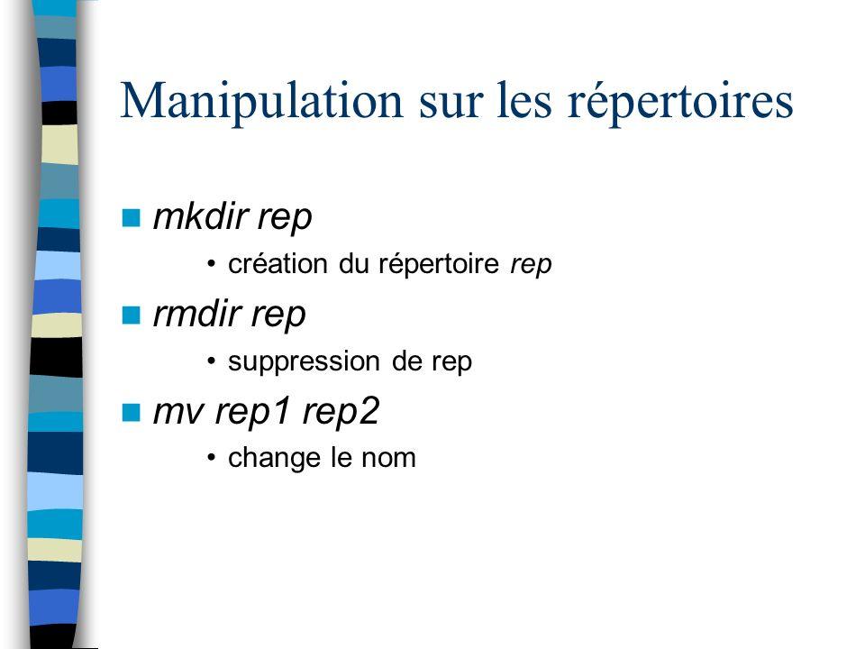 Manipulation sur les répertoires