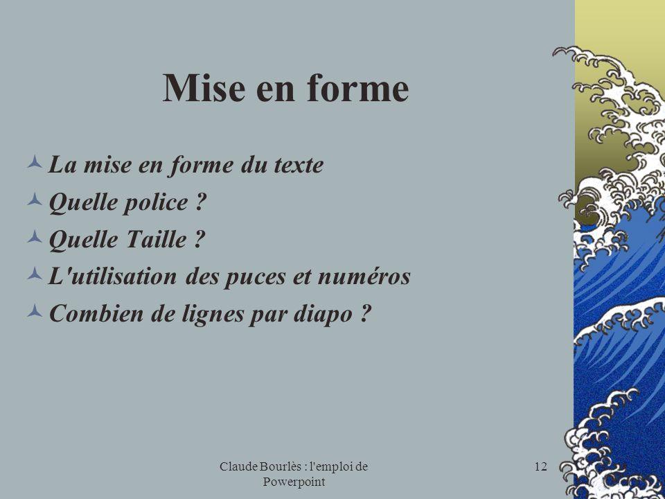 Claude Bourlès : l emploi de Powerpoint