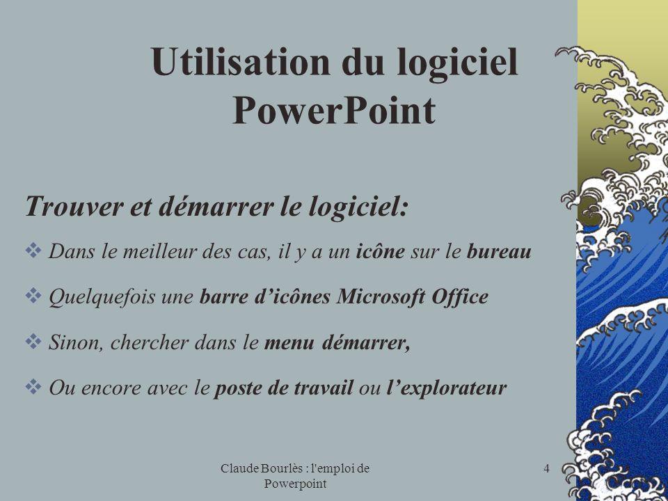 Utilisation du logiciel PowerPoint