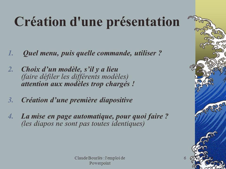 Création d une présentation