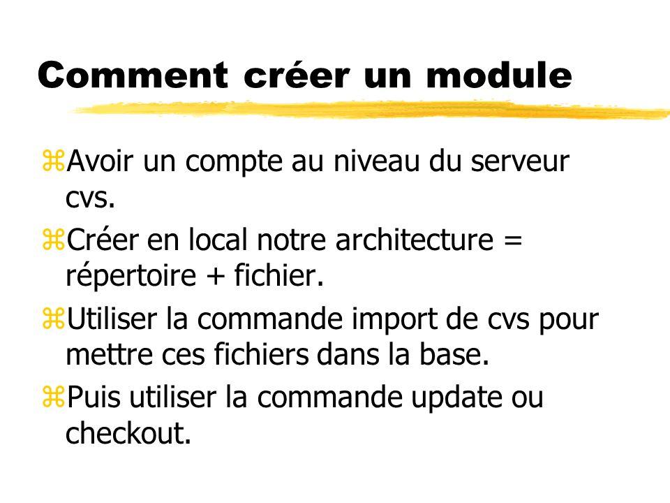 Comment créer un module