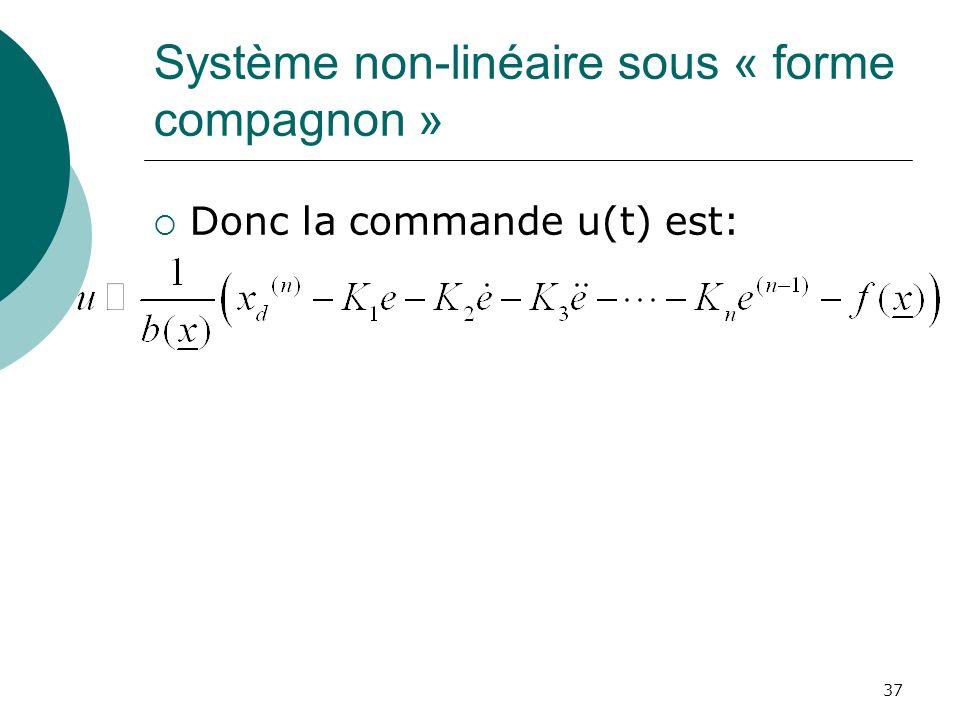 Système non-linéaire sous « forme compagnon »