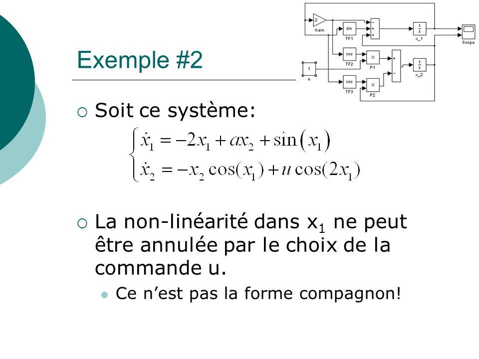 Exemple #2 Soit ce système: