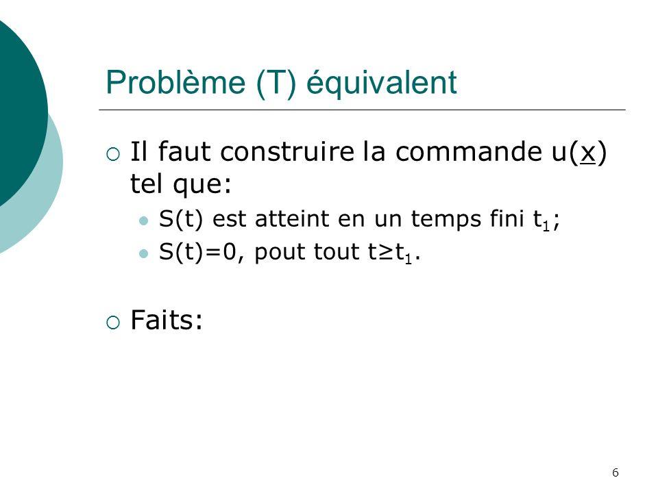 Problème (T) équivalent