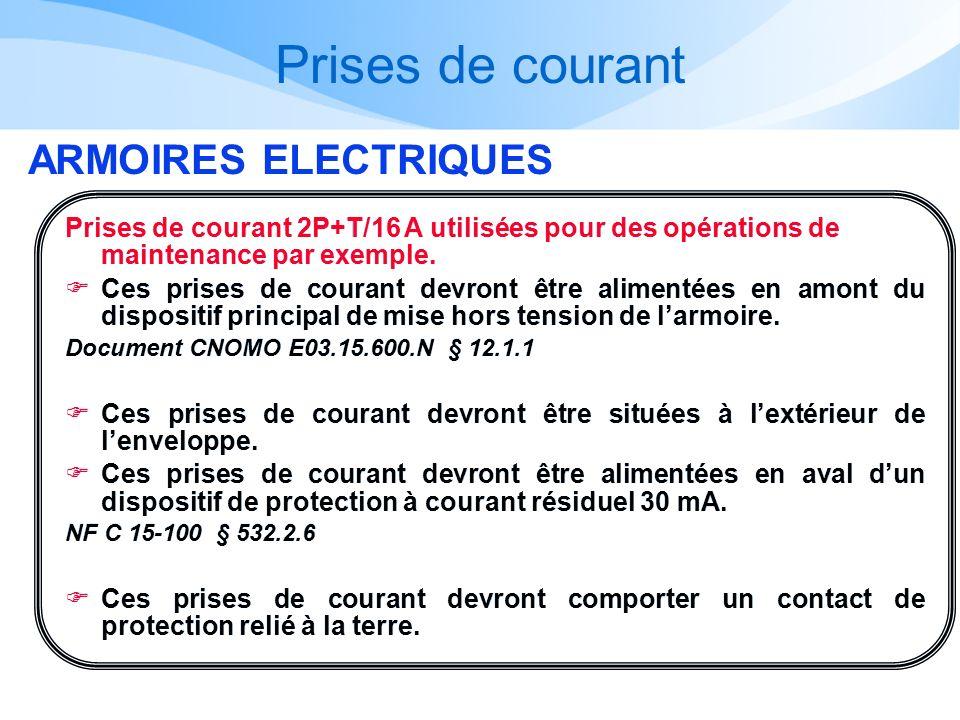 Prises de courant ARMOIRES ELECTRIQUES