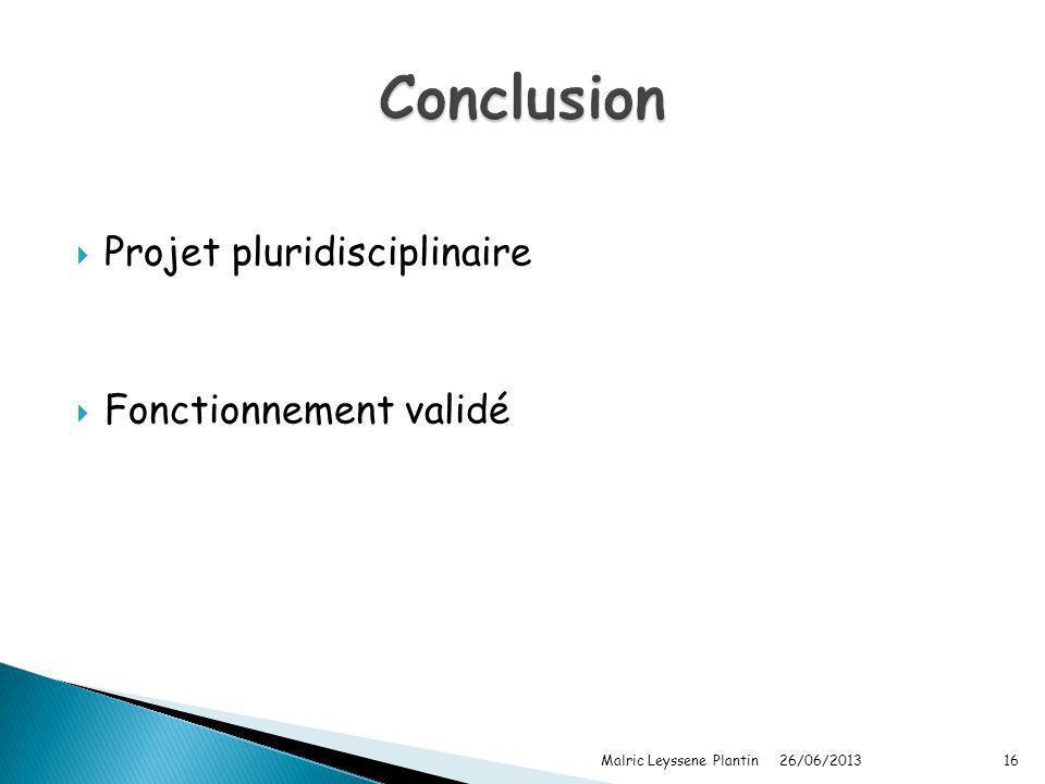 Conclusion Projet pluridisciplinaire Fonctionnement validé