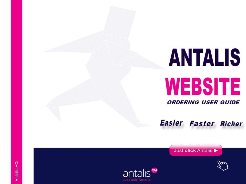 Antalis-HQ ORDERING USER GUIDE