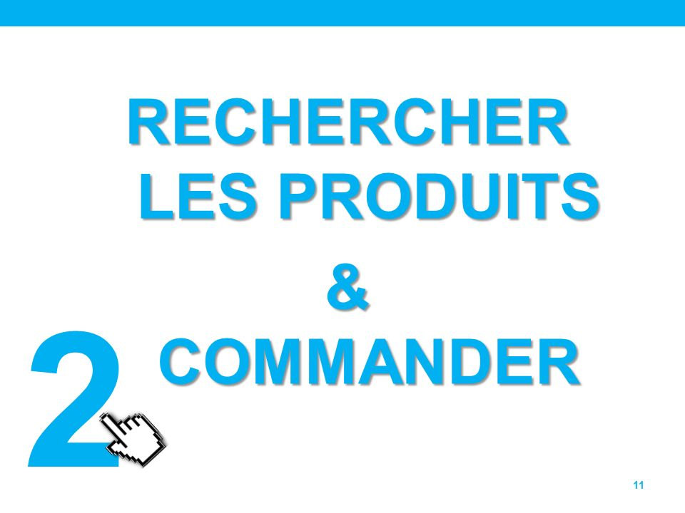 RECHERCHER LES PRODUITS & COMMANDER