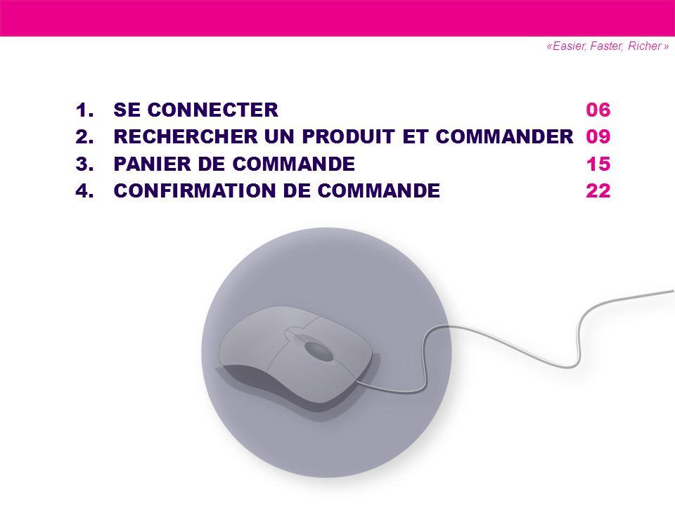 RECHERCHER UN PRODUIT ET COMMANDER 09 PANIER DE COMMANDE 15