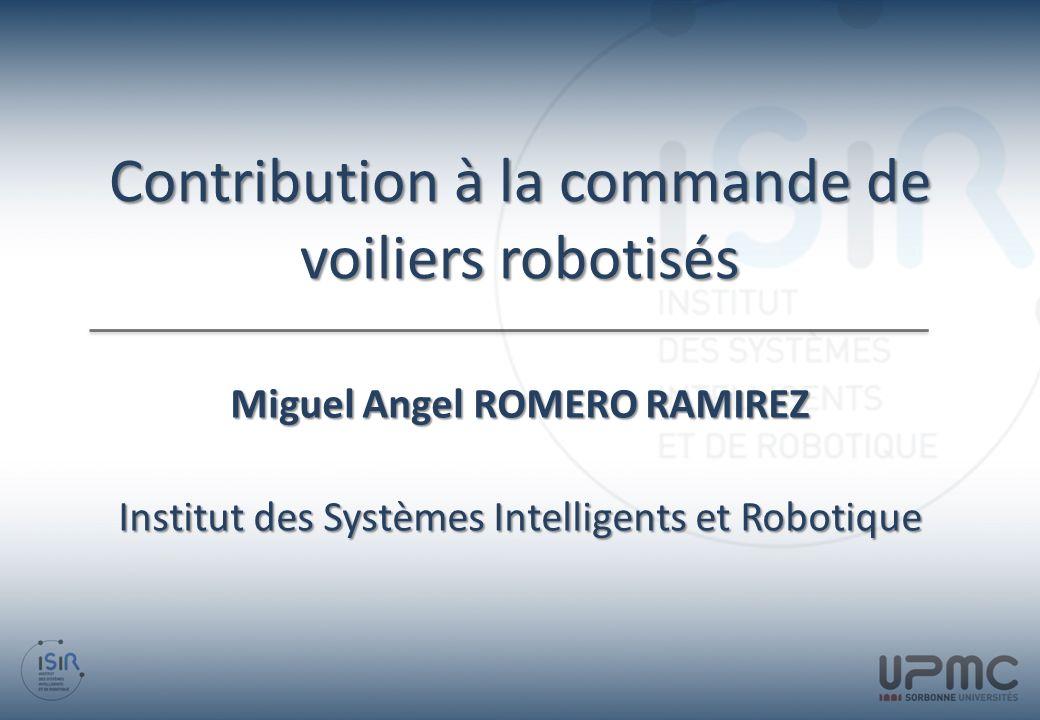 Contribution à la commande de voiliers robotisés