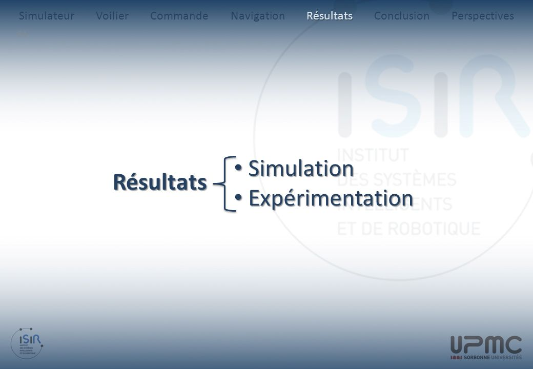 Simulation Résultats Expérimentation