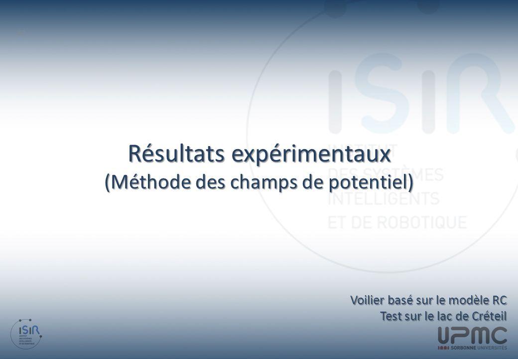 Résultats expérimentaux (Méthode des champs de potentiel)