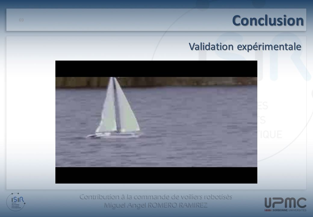 Conclusion Validation expérimentale