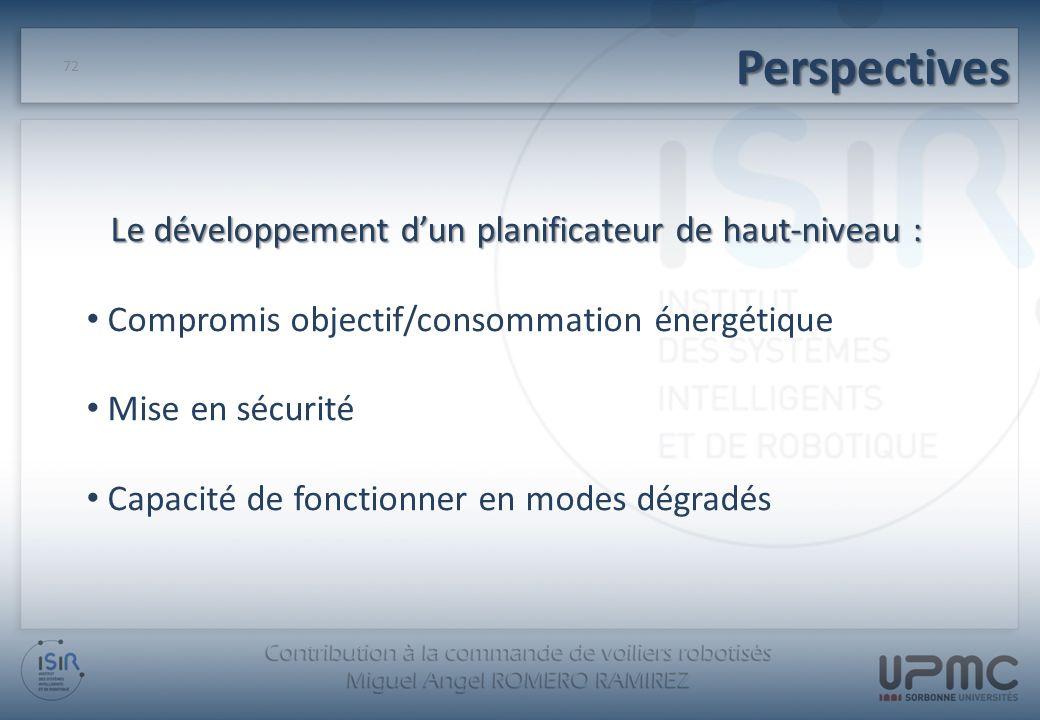 Le développement d'un planificateur de haut-niveau :