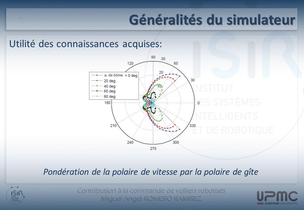 Généralités du simulateur