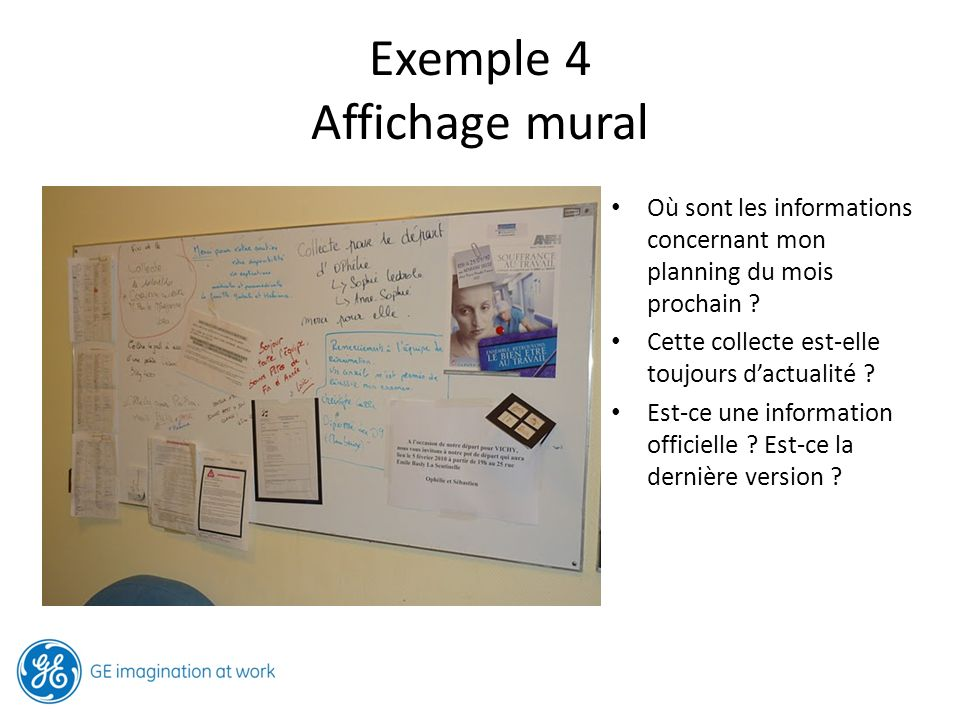 Exemple 4 Affichage mural