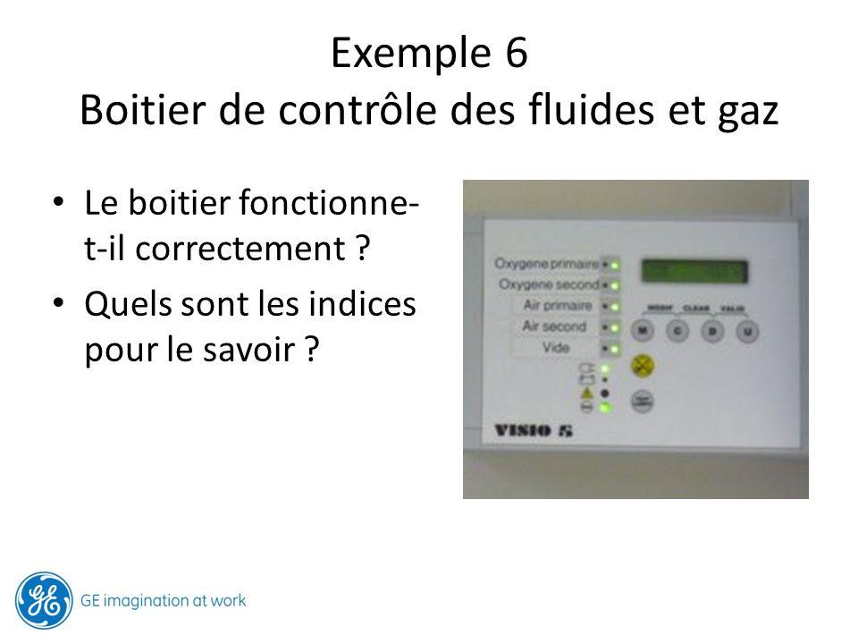 Exemple 6 Boitier de contrôle des fluides et gaz