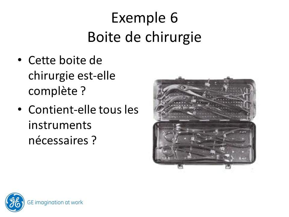 Exemple 6 Boite de chirurgie