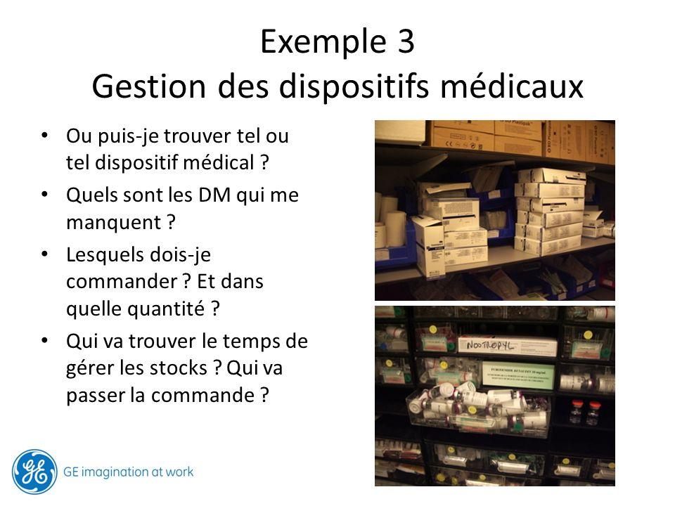 Exemple 3 Gestion des dispositifs médicaux