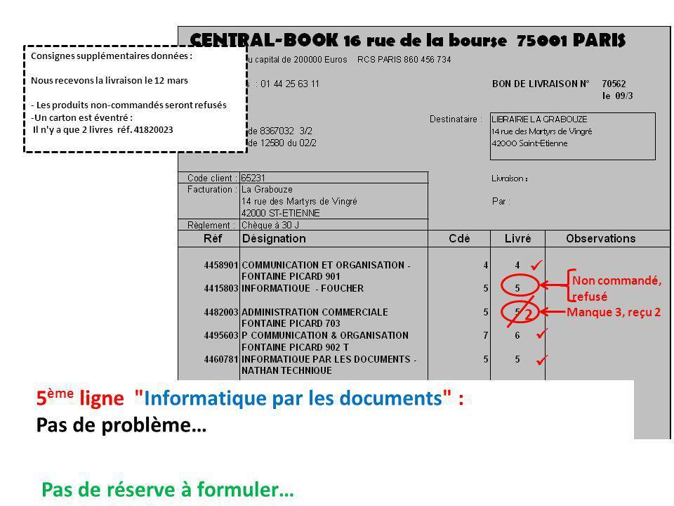 5ème ligne Informatique par les documents : Pas de problème…
