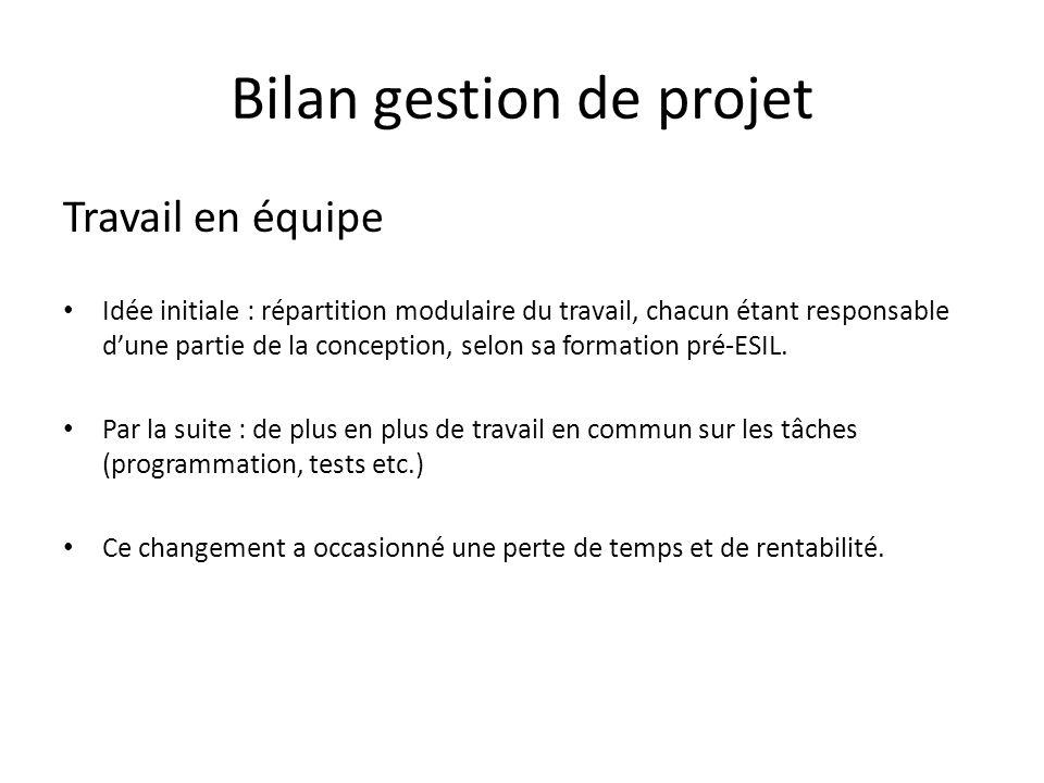 Bilan gestion de projet