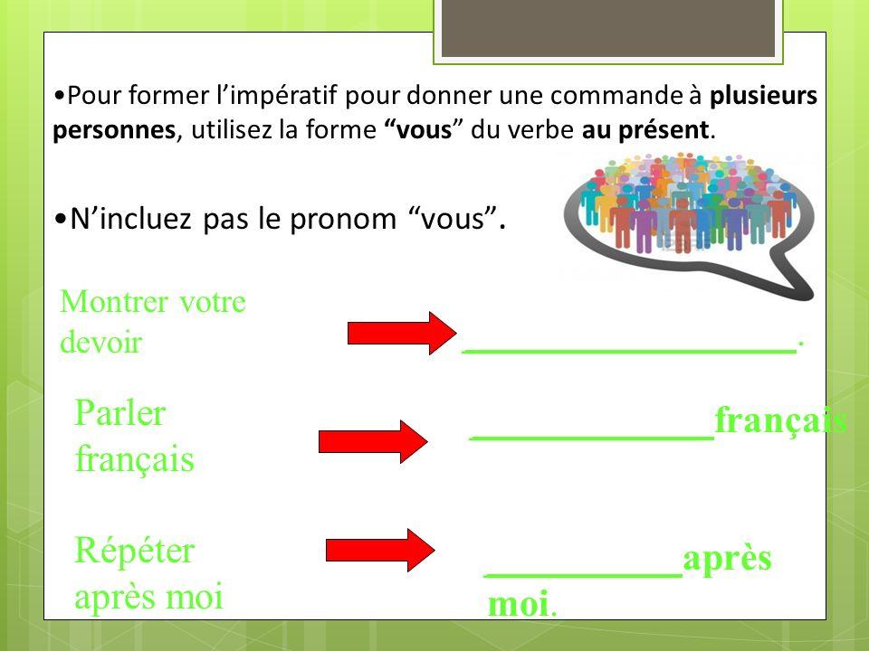 ____________ français