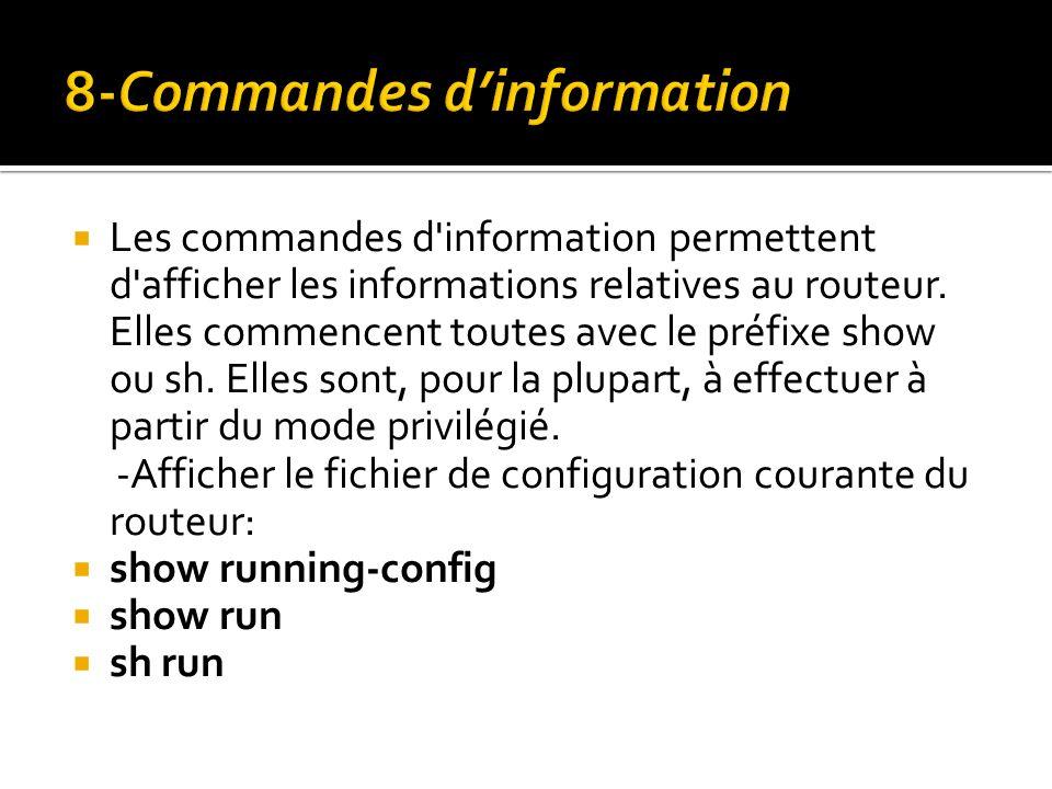8-Commandes d'information