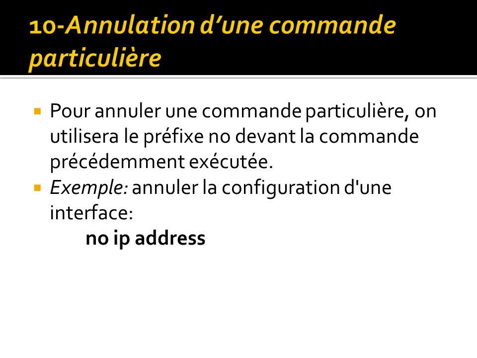 10-Annulation d'une commande particulière