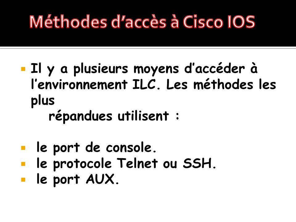 Méthodes d'accès à Cisco IOS