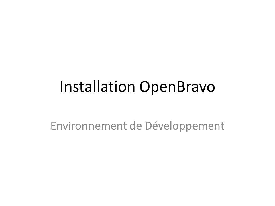 Installation OpenBravo