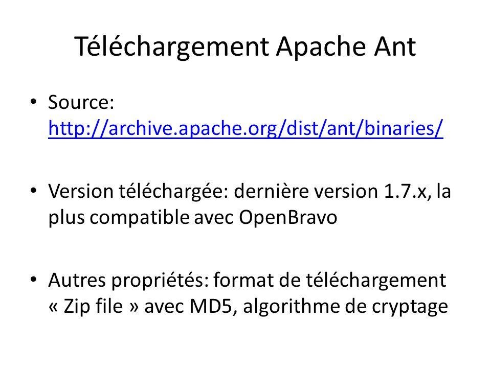 Téléchargement Apache Ant