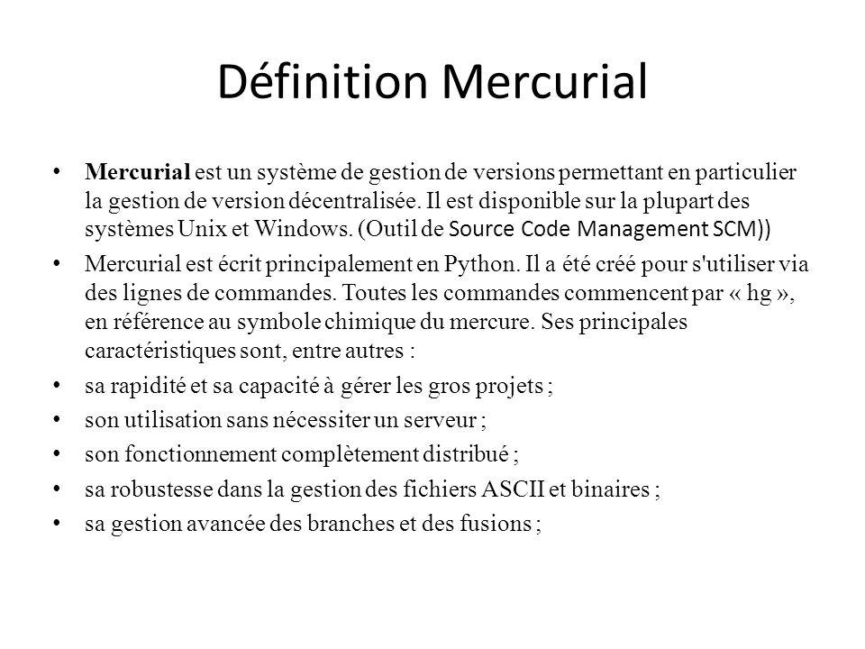 Définition Mercurial