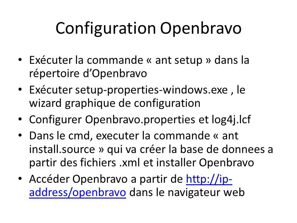 Configuration Openbravo