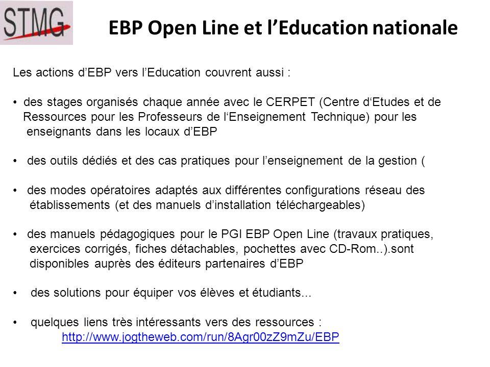 EBP Open Line et l'Education nationale