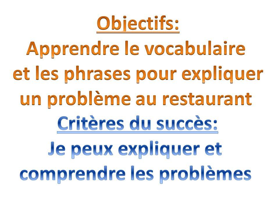 Apprendre le vocabulaire et les phrases pour expliquer