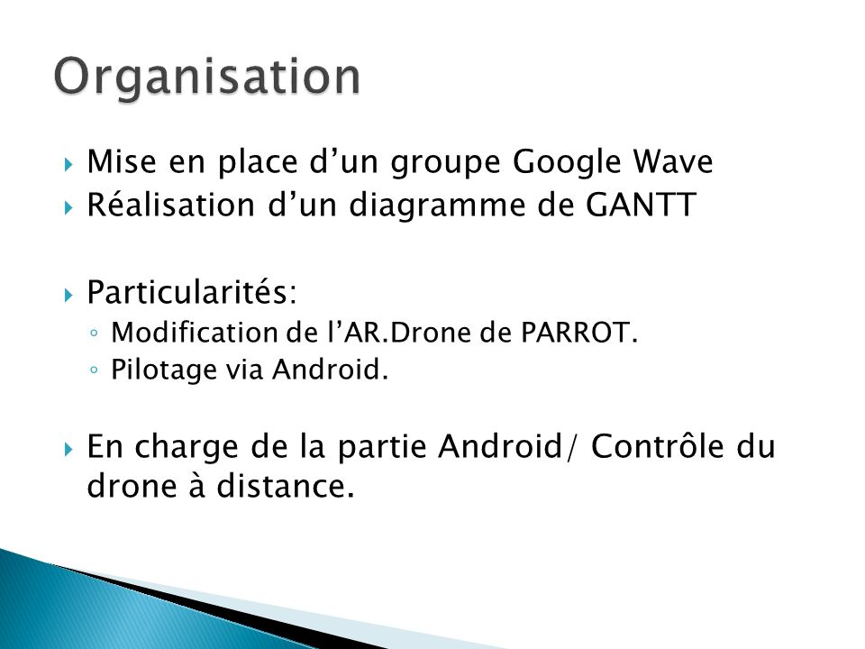 Organisation Mise en place d'un groupe Google Wave
