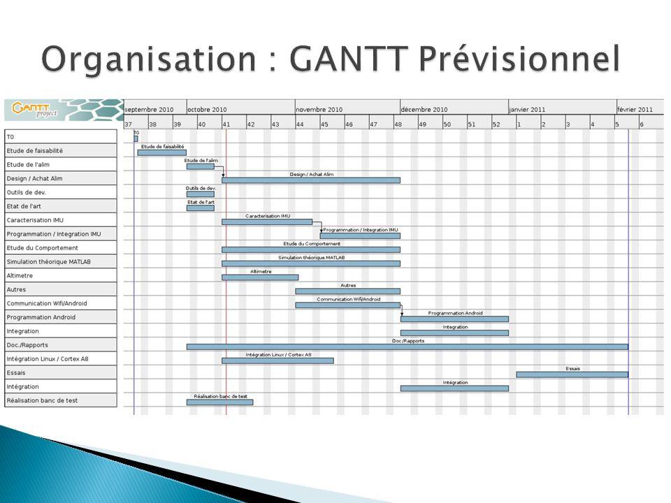Organisation : GANTT Prévisionnel