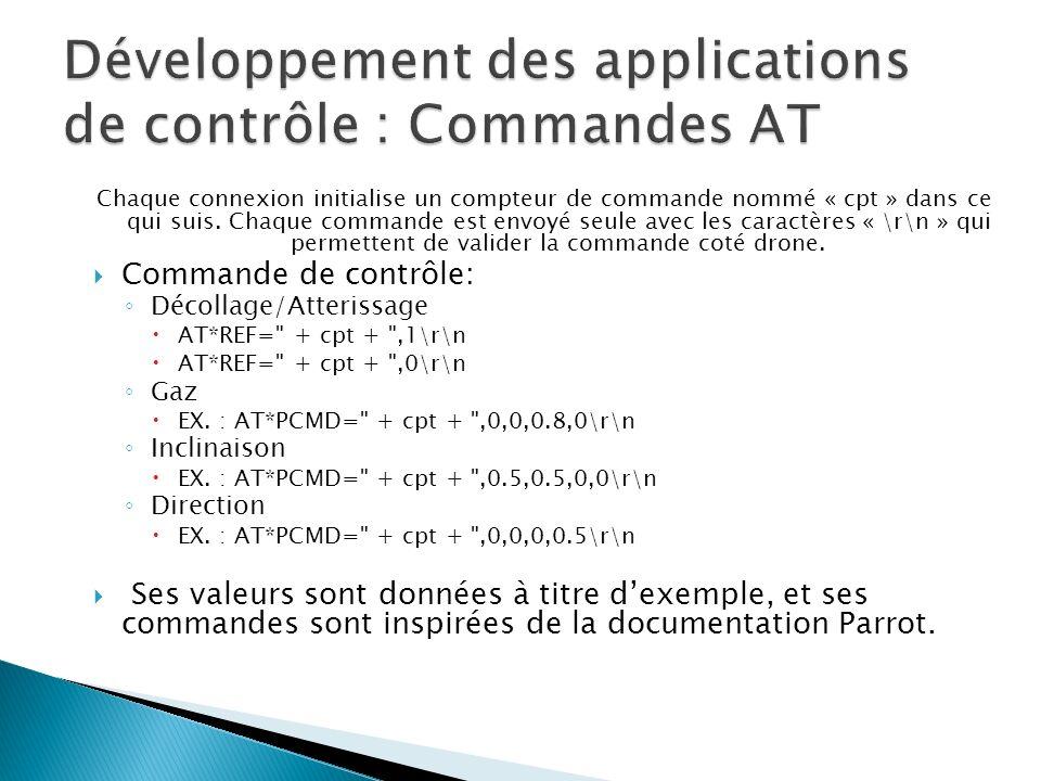 Développement des applications de contrôle : Commandes AT