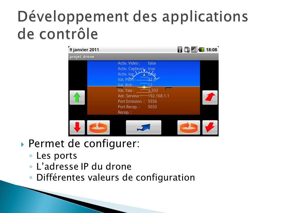 Développement des applications de contrôle