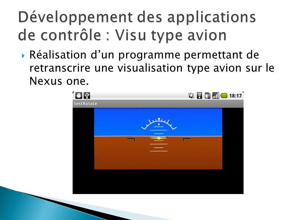 Développement des applications de contrôle : Visu type avion