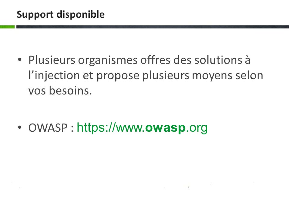 OWASP : https://www.owasp.org